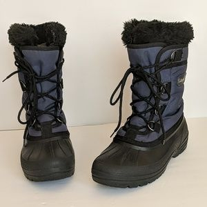 Kamik Women's Winter Boots Blue & Black Lace Up